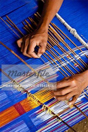 Weaving Ikat Treads, Sumba, Indonesia
