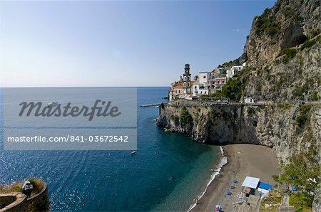 Atrani, côte amalfitaine, l'UNESCO World Heritage Site, Campanie, Italie, Europe