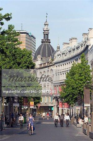 Meir piétonne commerçante zone, Anvers, Flandre, Belgique, Europe