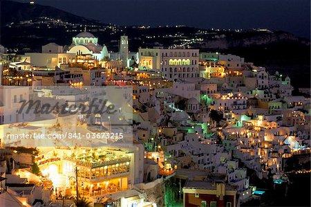 Fira, l'île de Santorini (Thira), Iles des Cyclades, Aegean, îles grecques, Grèce, Europe