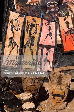 Boutique de souvenirs à Victoria Falls, Zambie, Afrique