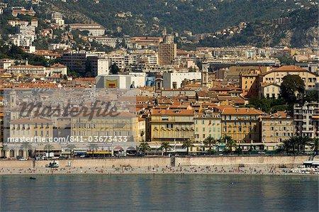 Vue depuis l'hélicoptère de Nice, Alpes-Maritimes, Provence, Côte d'Azur, French Riviera, France, Méditerranée, Europe