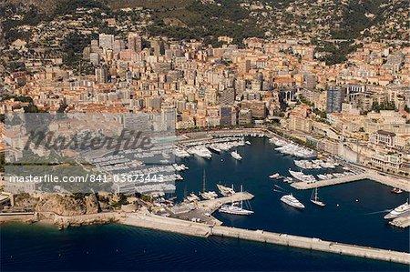 Vue depuis l'hélicoptère de Monte Carlo, Monaco, Côte d'Azur, Europe