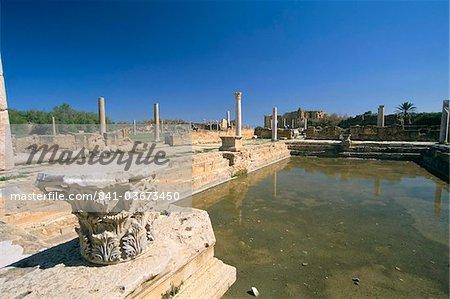 Hadrian's Bath, Leptis Magna, UNESCO World Heritage Site, Tripolitania, Libya, North Africa, Africa