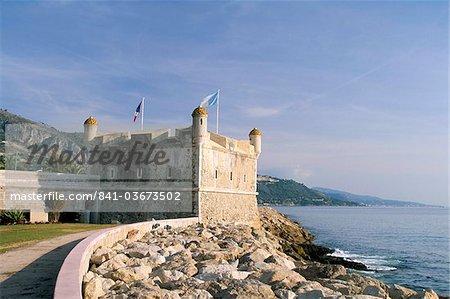Musée Jean Cocteau, Bastion, Menton, Alpes-Maritimes, Côte d'Azur, Provence, Côte d'Azur, France, Méditerranée, Europe