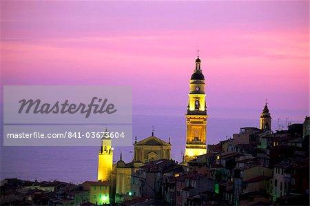 Église de St. Michel, Menton, Alpes-Maritimes, Côte d'Azur, Provence, Côte d'Azur, France, Méditerranée, Europe