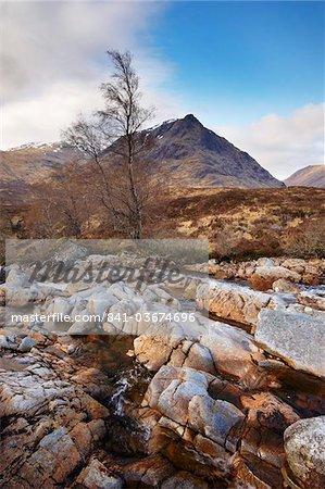 River Coupall in Glen Coe (Glencoe), Highland region, Scotland, United Kingdom, Europe