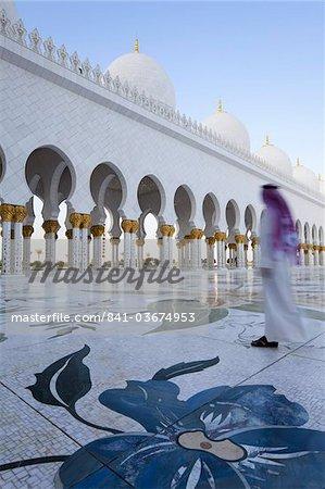 Cheikh Zayed Bin Sultan Al Nahyan mosquée, Abu Dhabi, Émirats Arabes Unis, Moyen-Orient