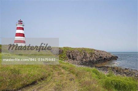 Brier Island Lighthouse, Nova Scotia, Canada, l'Amérique du Nord