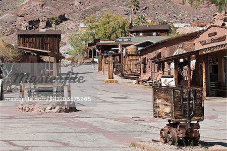 Ville fantôme de Calico près de Barstow, Californie, États-Unis d'Amérique, l'Amérique du Nord