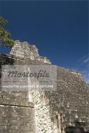 Temple No. 2 (Temple of the Masks), Great Plaza, Tikal, UNESCO World Heritage Site, Tikal National Park, Peten, Guatemala, Central America