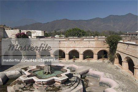 The ruined cloisters and gardens of Church and Convent de Nuestra Senora of La Merced, Antigua,UNESCO World Heritage Site, Guatemala, Central America