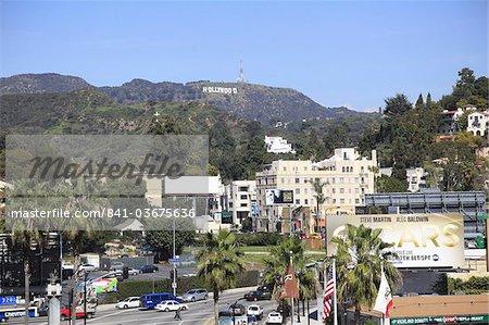 Oscars anglo-saxon, panneau Hollywood, Hollywood, Los Angeles, Californie, États-Unis d'Amérique, Amérique du Nord