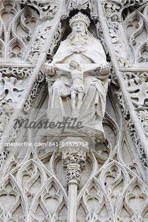 Dieu et Jésus, Saint-Vulfran d'Abbeville église, Somme, France, Europe