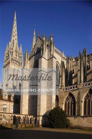 Saint-Corentin cathédrale, Quimper, Finistère, Bretagne, France, Europe