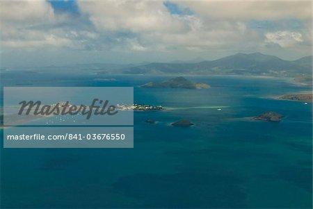Vue aérienne de l'île de grande Terre, Mayotte, français du ministère collectivité de Mayotte, océan Indien, Afrique