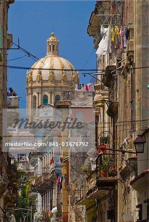 Vue avec le Parlement, la Havane, Cuba, Antilles, Caraïbes, Amérique centrale