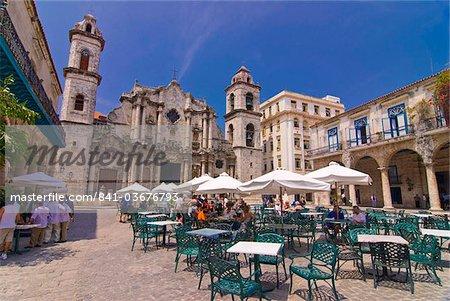 Plaza de la Catedral, Havana Vieja, UNESCO World Heritage Site, la Havane, Cuba, Antilles, Caraïbes, Amérique centrale