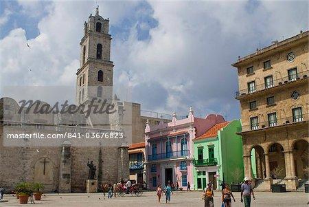 Plaza Vieja, patrimoine mondial UNESCO, la Havane, Cuba, Antilles, Caraïbes, Amérique centrale