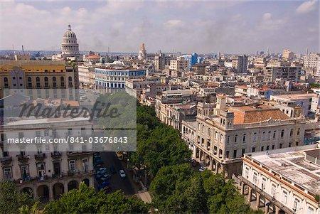 Vue sur la vieille ville de la Havane, Cuba, Antilles, Caraïbes, Amérique centrale