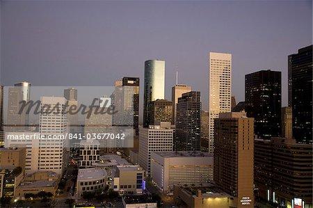 Downtown Houston, Texas, États-Unis d'Amérique, l'Amérique du Nord