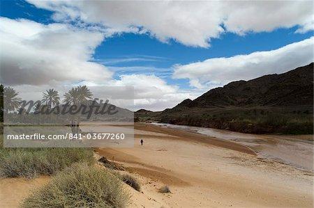 Saf Saf River, the border with Algeria, oasis of Figuig, province of Figuig, Oriental Region, Morocco, North Africa, Africa