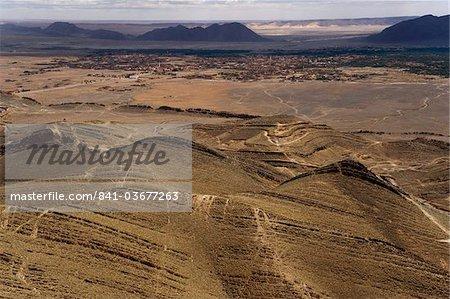 Montagnes autour de l'oasis de Figuig, province de Figuig, Oriental Maroc, région, l'Afrique du Nord, Afrique