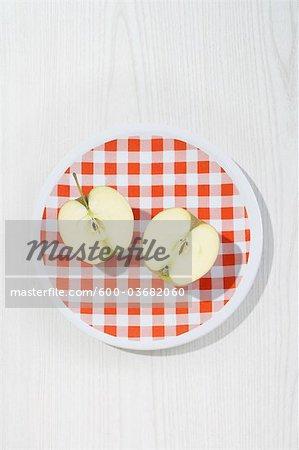 Apple Halves on Plate