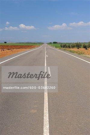 Ligne médiane du chemin, Andalousie, Espagne