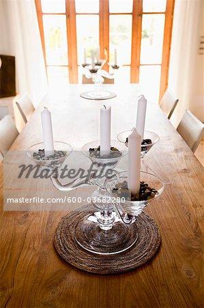 Bougies sur Table, Majorque, Espagne