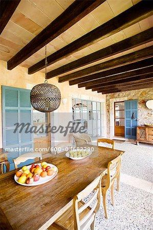Intérieur de maison, Majorque, Espagne