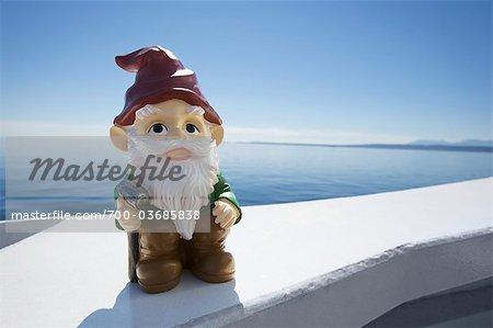 Garden Gnome on Ferry, Strait of Georgia, British Columbia, Canada