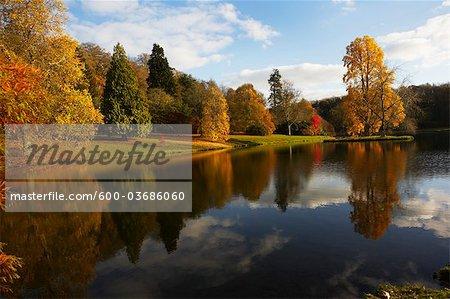 Autumn in Stourhead, Wiltshire, England