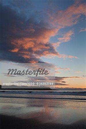 Chesterman Beach au coucher du soleil, Tofino, Vancouver Island, British Columbia, Canada