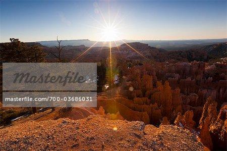 Lever du soleil sur le Parc National de Bryce Canyon, Utah, USA