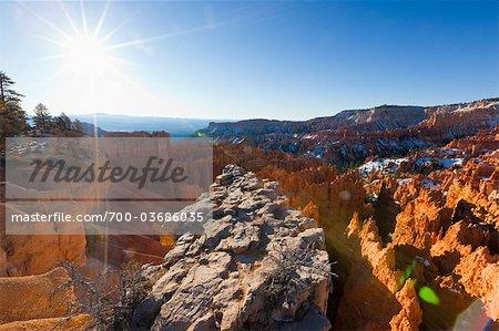 Vue d'ensemble de la Hoodoos, Badlands du Parc National de Bryce Canyon, Utah, USA