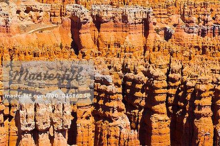 Cheminées de grès, de flèches et de pinacles de Sunset Point, Parc National de Bryce Canyon, Utah, USA