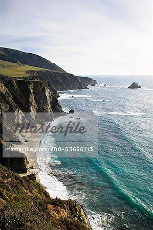 Big Sur Coast and Santa Lucia Mountains, Monterey County, California, USA