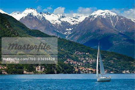 Voilier du lac de Côme, Lombardie, Italie