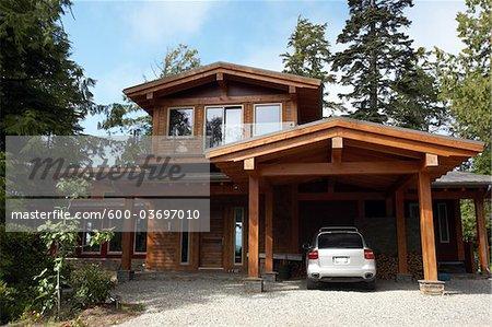 Extérieur de la maison, Tofino, Vancouver Island, British Columbia, Canada