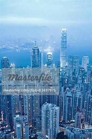 Vue de Victoria Peak, Chine Hong Kong