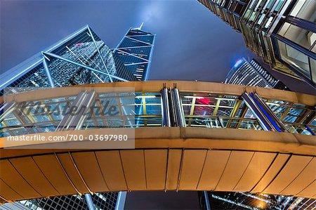 Covered Walkway, Financial District, Hong Kong, China