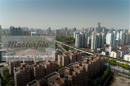 Vue d'ensemble de Shanghai, Chine