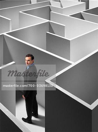 Businessman in Maze
