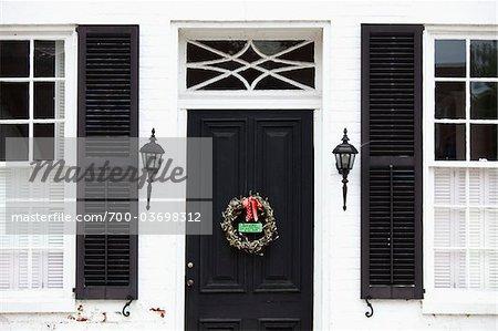 Porte et une couronne, Front Royal, Virginia, USA