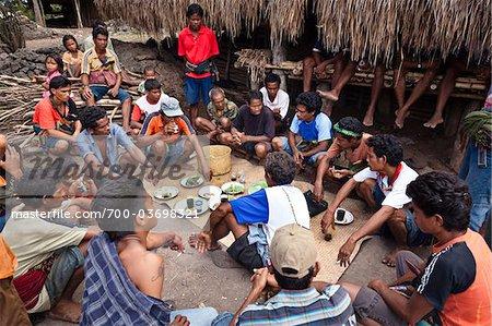 Funérailles cérémonie, Waihola Village, Sumba (Indonésie)