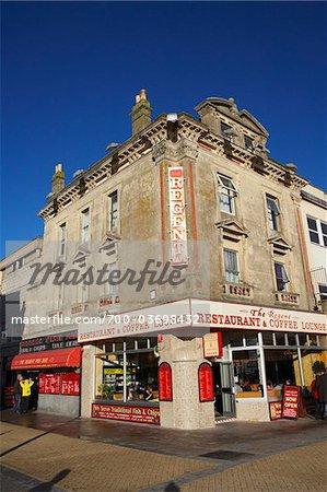 Restaurant, Weston-super-Mare, Somerset, Angleterre