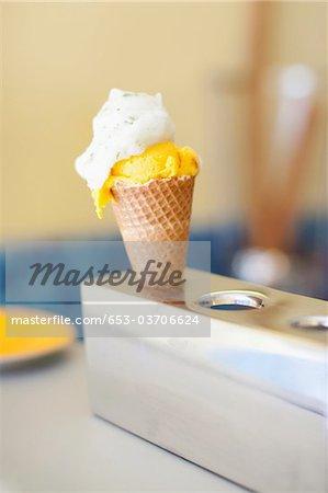 An ice cream cone