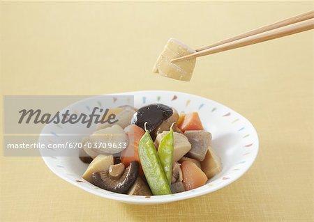 Simmered vegetables, Chikuzenni