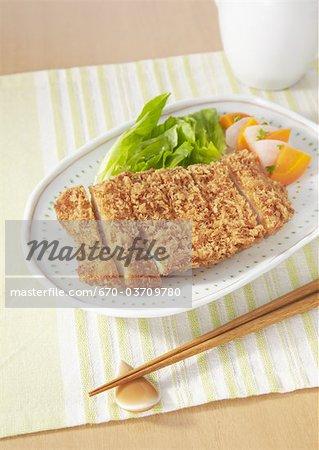 Deep fried chicken cutlet